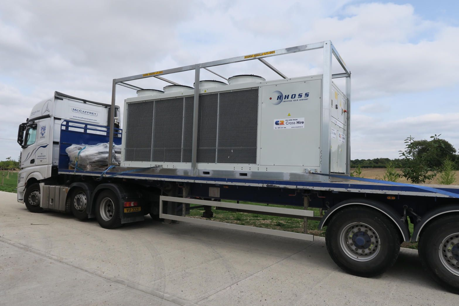 Cross Rental Services have extended their Chiller Hire