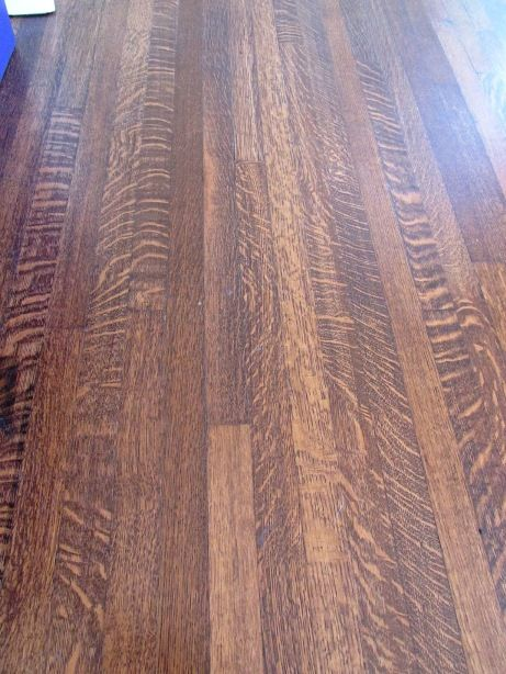 Stained Quarter Sawn White Oak