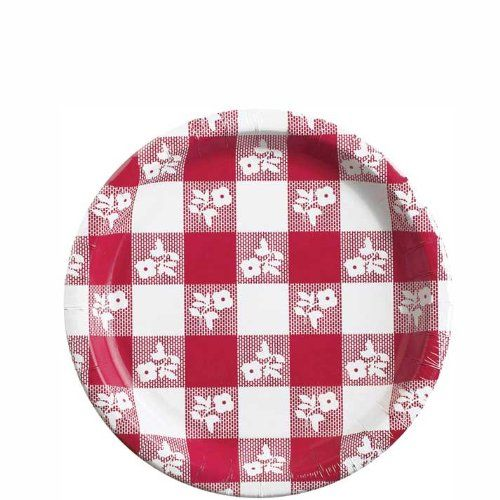 Creative Converting Plastic Coated Red Gingham Paper Plates 8.75 Inch 25 Count Creative Converting  sc 1 st  Pinterest & Creative Converting Plastic Coated Red Gingham Paper Plates 8.75 ...