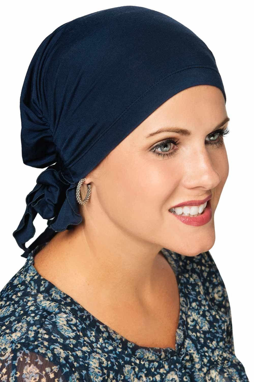 Easy on pre tied head scarf cardani bamboo viscose ready