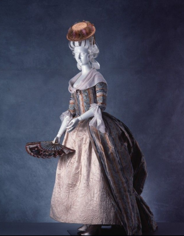 Robe a la polonaise ca. 1765-80  From the Powerhouse Museum