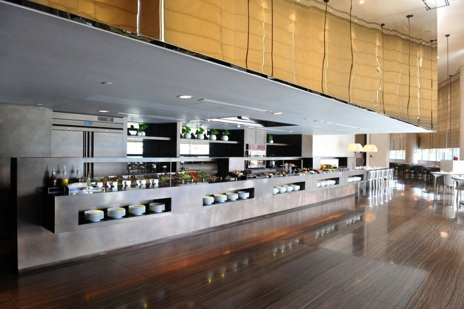 Fabulous-Armani-Hotel-Dubai-Interior-in-Kitchen-Bar-and-Restaurant-used-Glossy-Wooden-Flooring