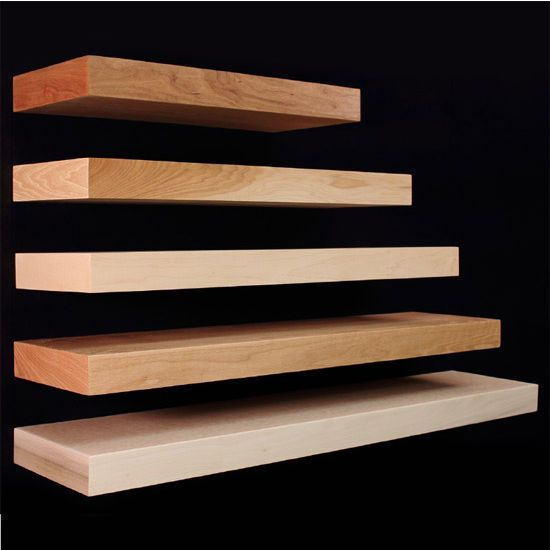24 To 48 Wall Mounted Floating Shelves In Ready To Finish Cherry Hickory Maple Red O Long Floating Shelves Wood Floating Shelves Rustic Floating Shelves