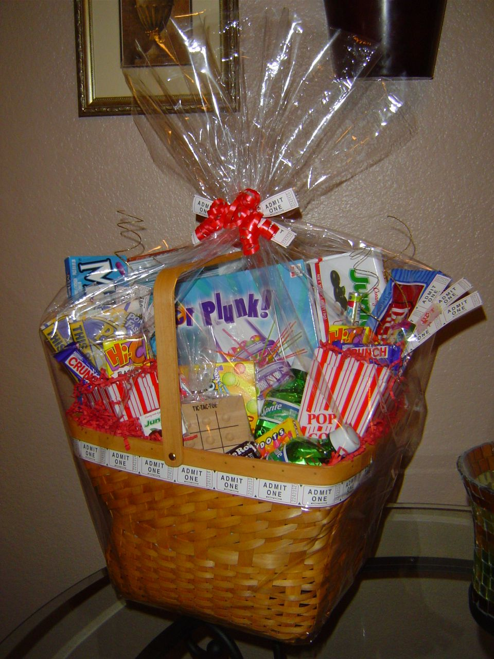 Family game movie night gift basket audjiefied