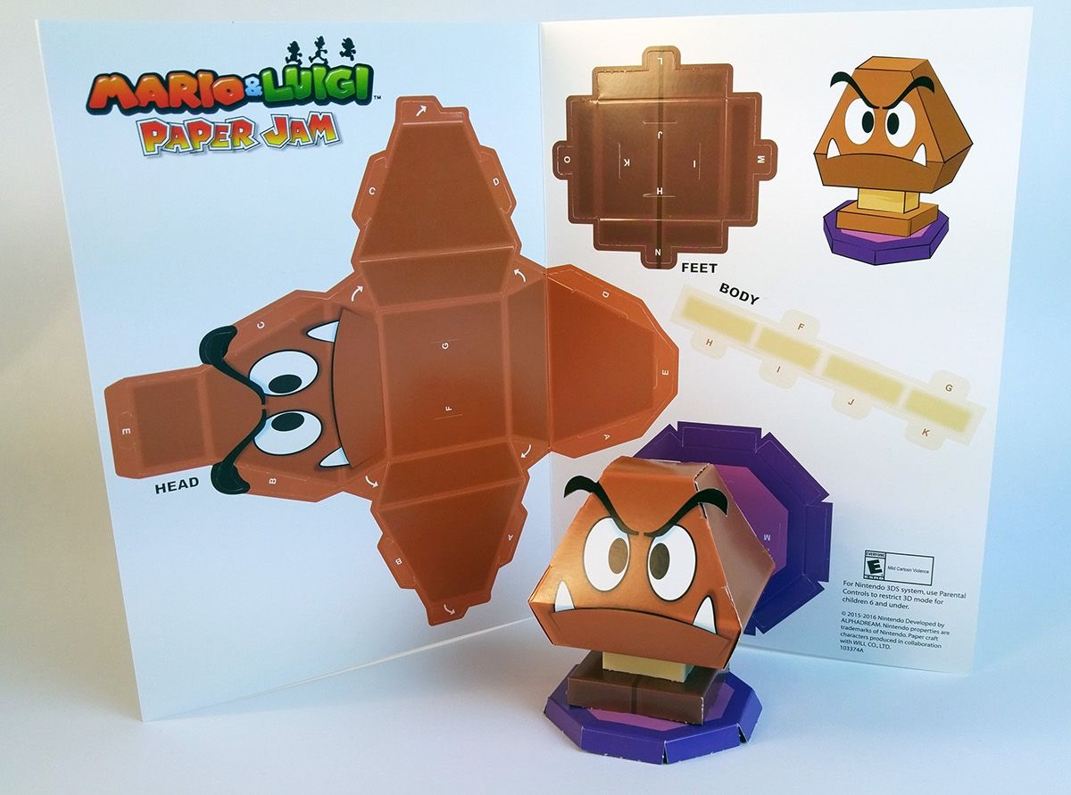 Mario Luigi Paper Jam Papercraft Premium On Behance Mario And