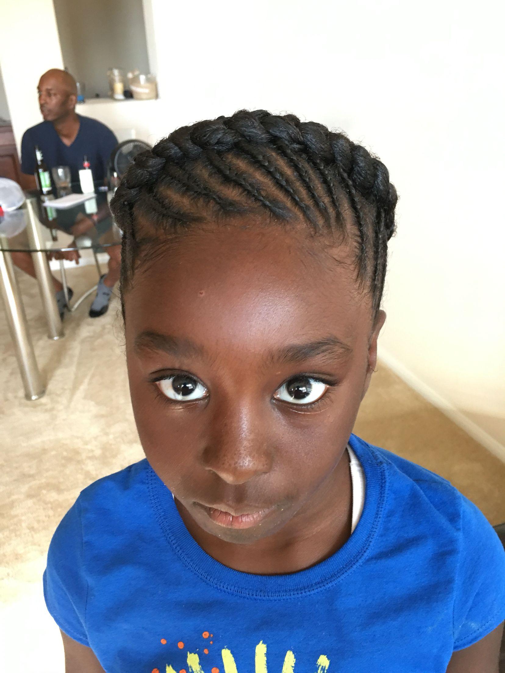 Halo Beehive Black Girl Hair Cornrows Designs Little Girl