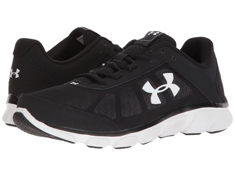 41d9febe6180 Under Armour Men s Micro G Assert 7 Running Shoes Black White US Sizes