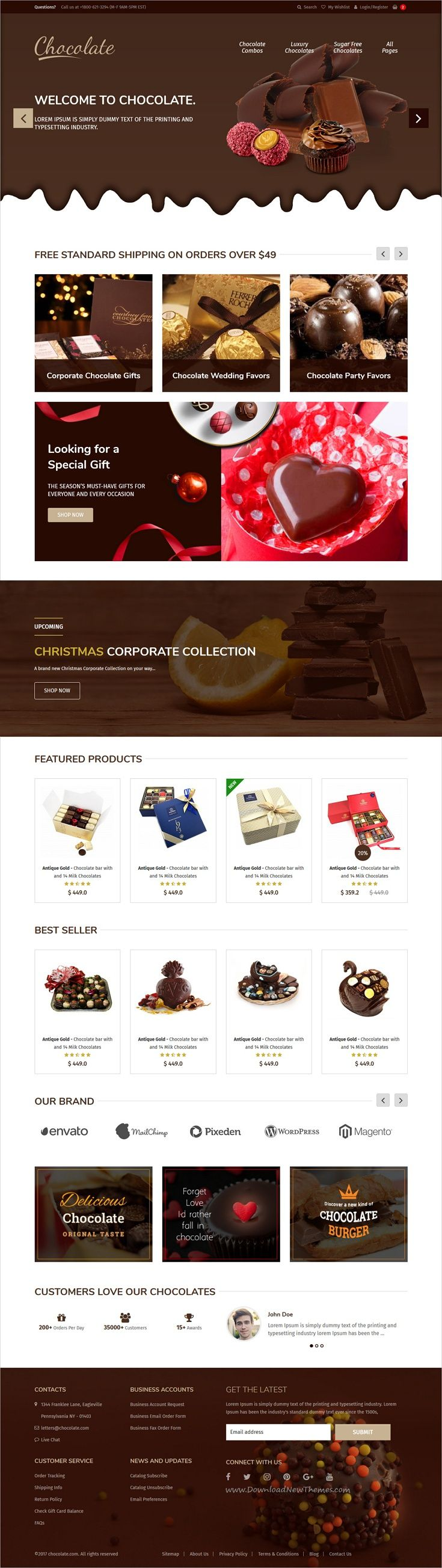 Bootstrap Website Templates Chocolate  Ecommerce Sweets & Cupcakes Bootstrap Template  Cake