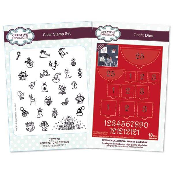 creative expressions advent calendar die /& stamp set
