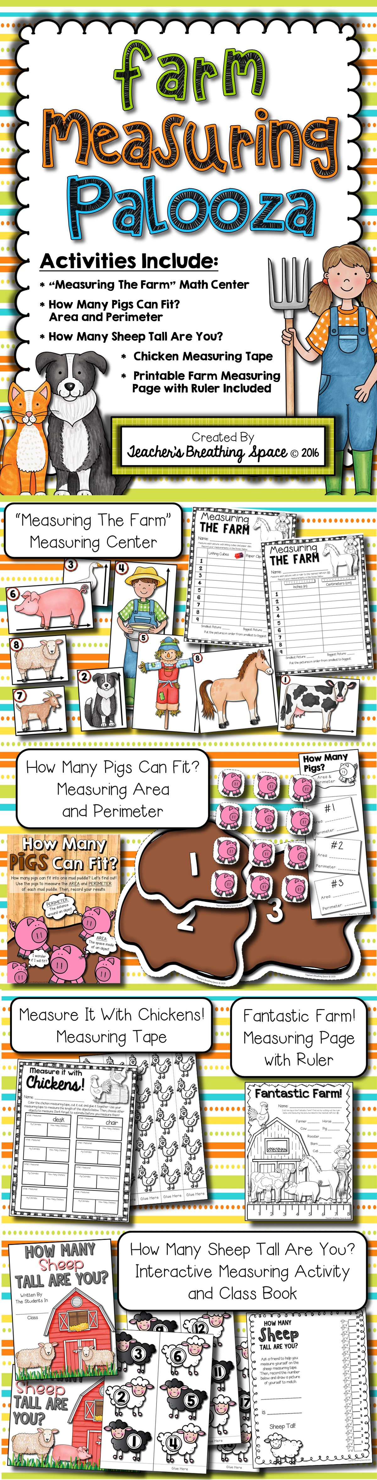 Farm Measuring Palooza Farm Animal Measurement Math