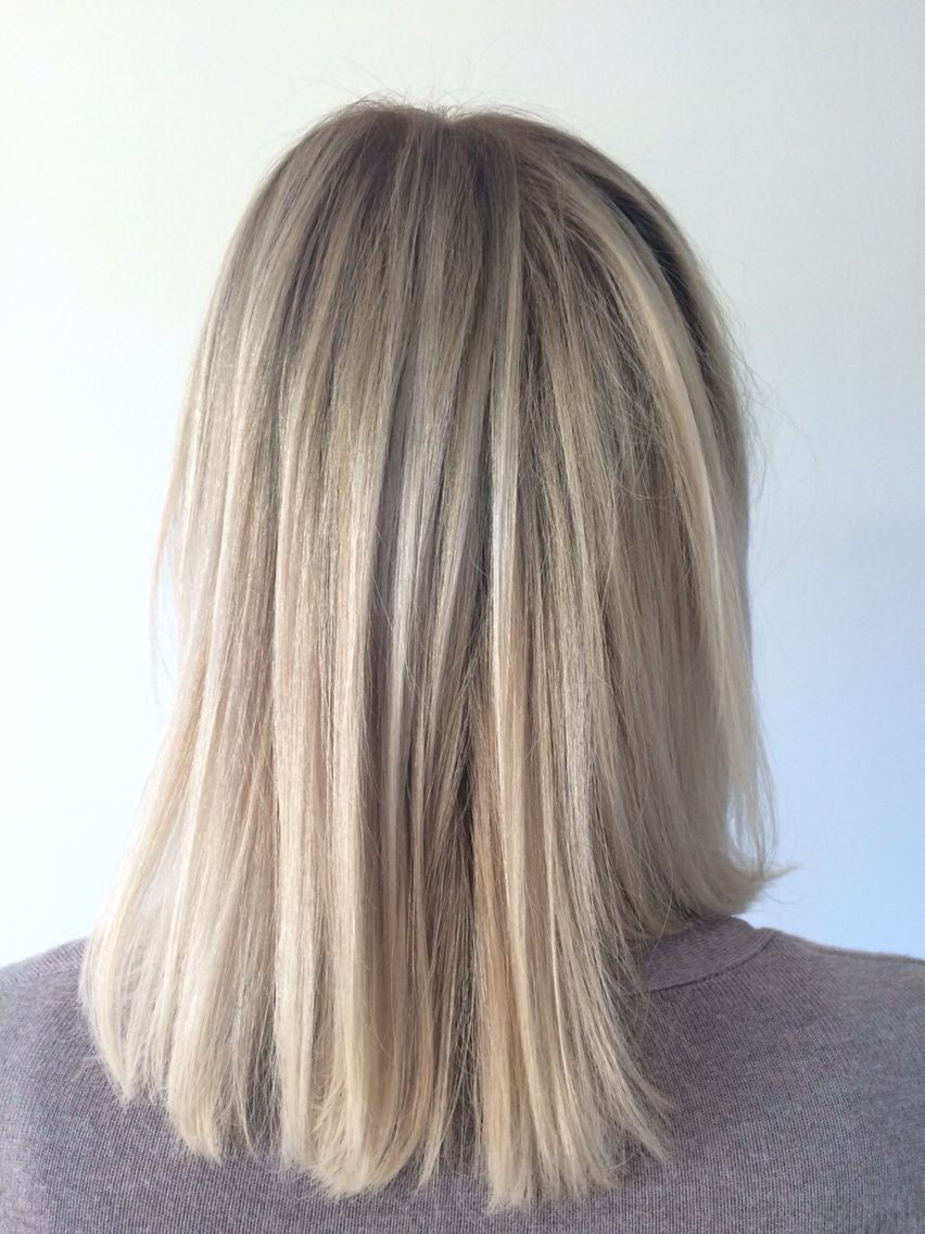 Ash blonde w/ highlights #lightashblonde