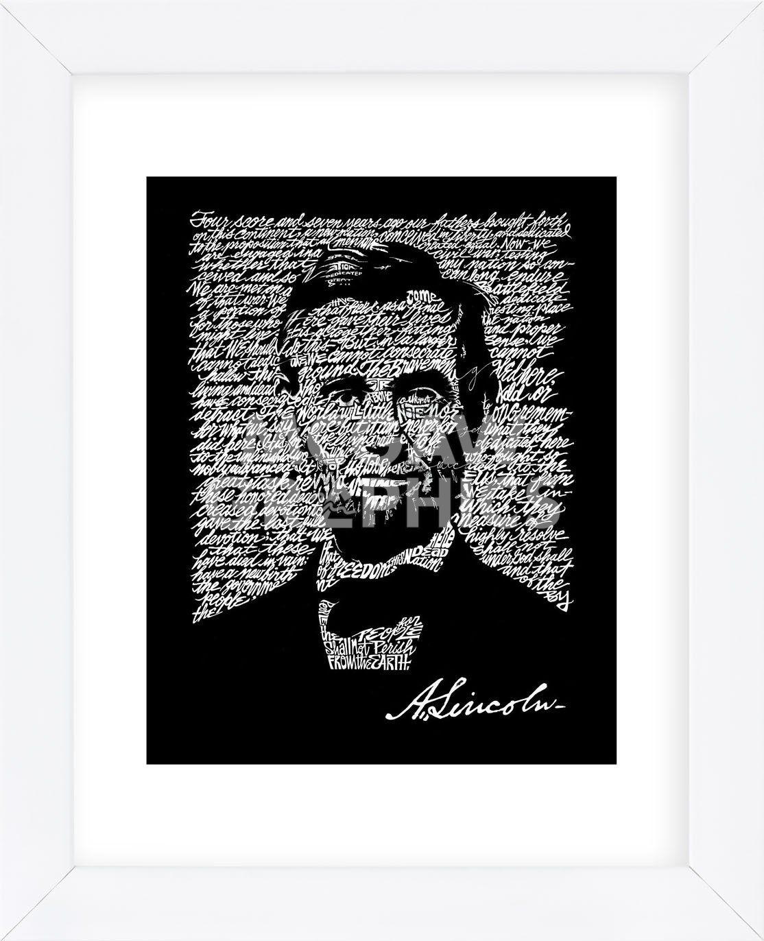 Abraham Lincoln Gettysburg Address Framed