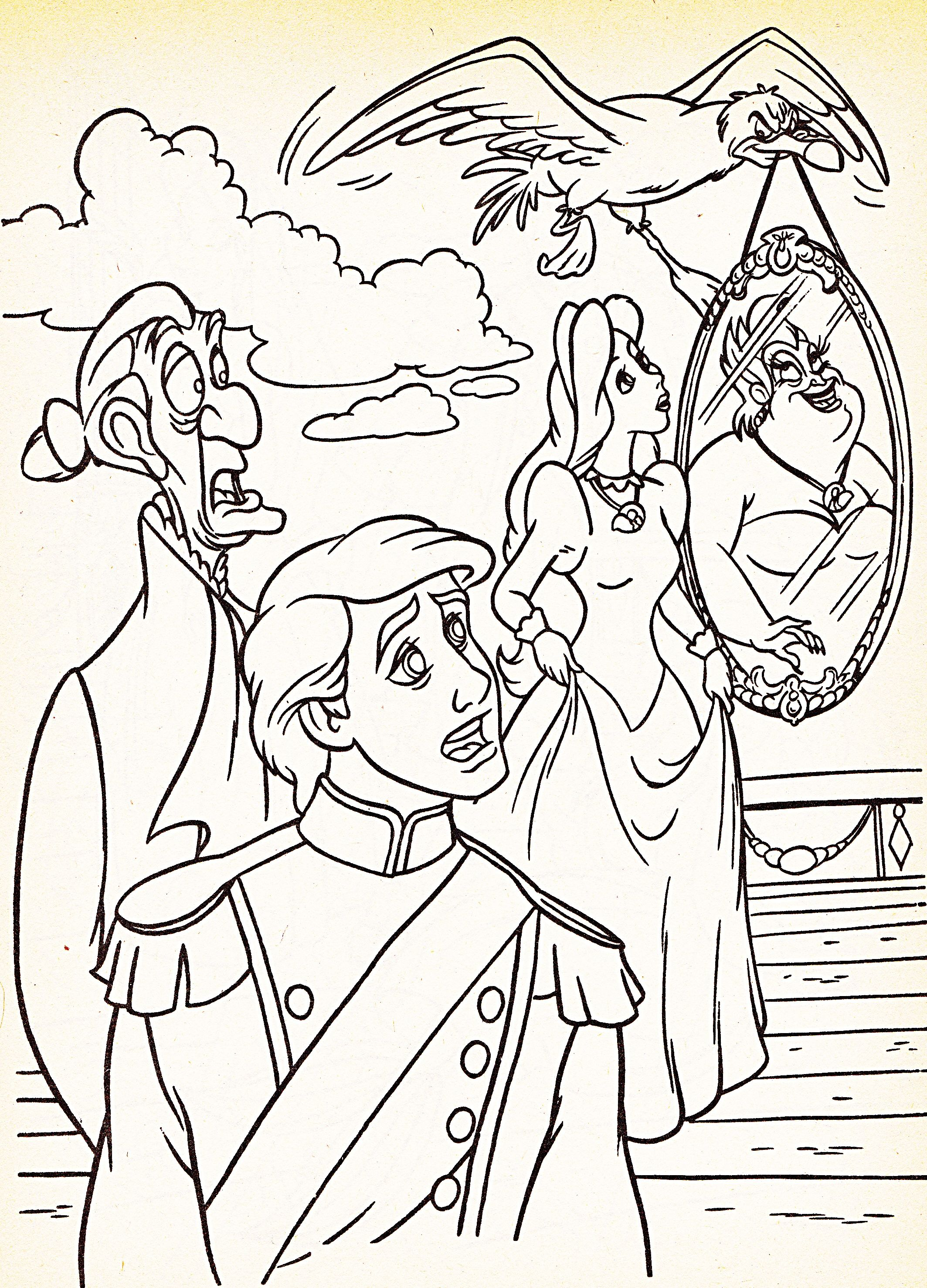 13613 Coloring Pages Sir Grimsby Prince Eric Scuttle Vanessa Ursula Jpg Jpeg Image 2127 2956 Pix Ariel Coloring Pages Coloring Pages Mermaid Coloring Pages