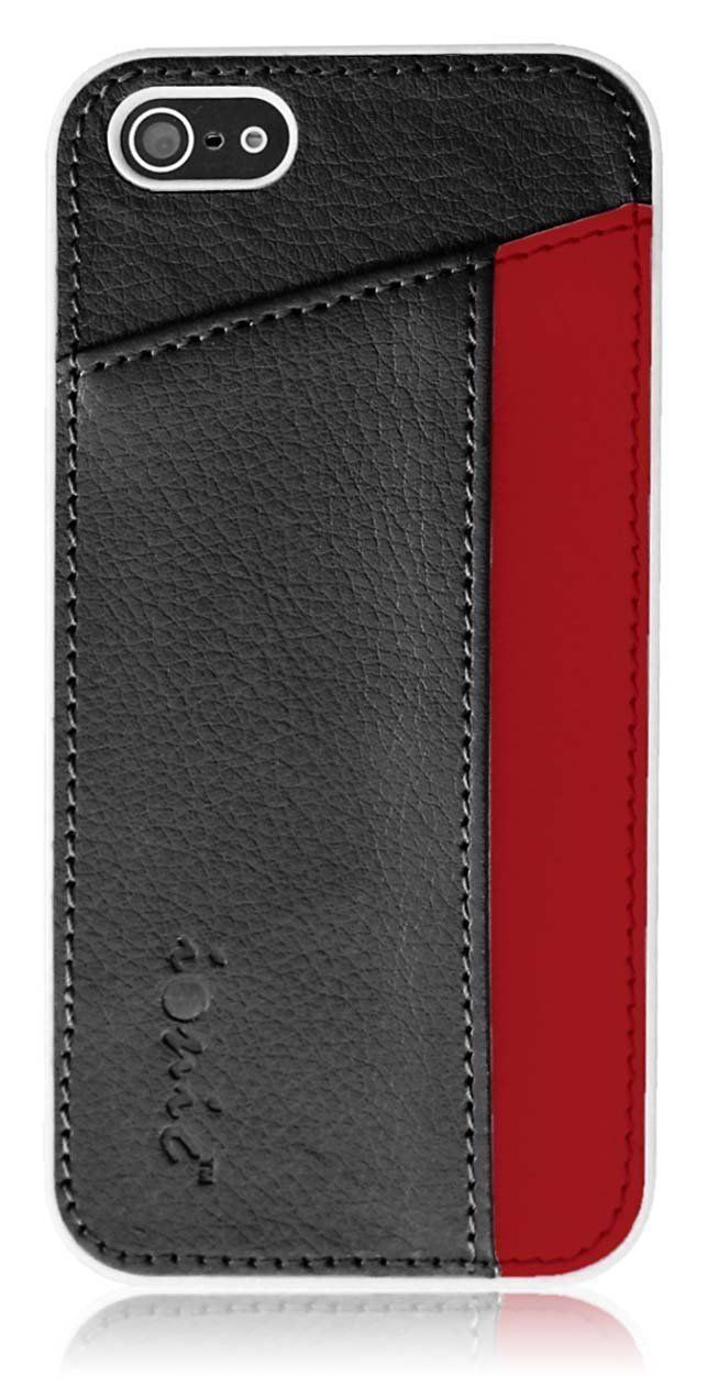 "Amazon.com: Ionic IMPRESSION Slim Dual Pocket Case Cover for ""The New iPhone"" New Apple iPhone 5 Apple iPhone 5S (ATT, T-Mobile, Sprint, Verizon) (Black/Red) [Doesn't fit iPhone 4/ iPhone 4S]: Cell Phones & Accessories"