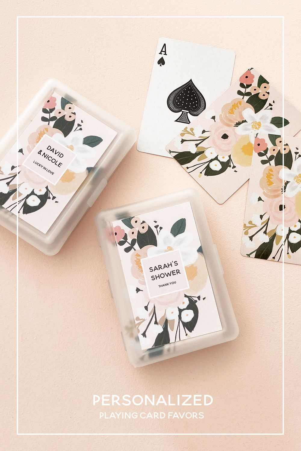 boho floral playing cards in 2020  wedding gifts for