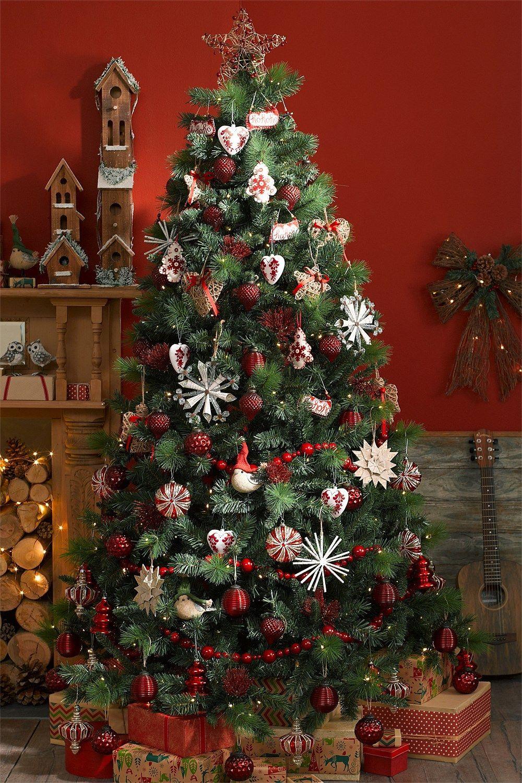 Ezibuy Christmas Shop 7ft Prelit Austrian Pine Christmas In 2020 Christmas Decorations Plaid Christmas Decor Rustic Christmas