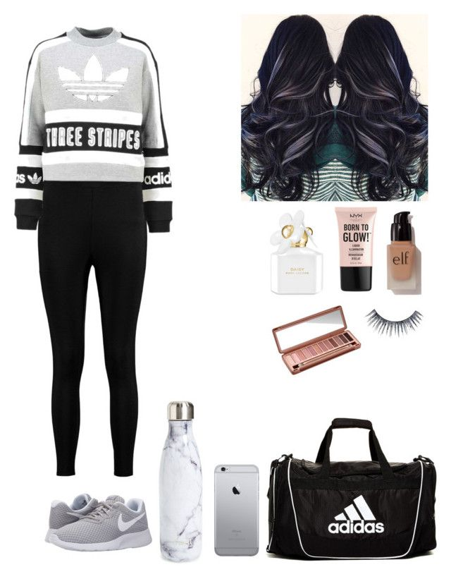 """""""Hangin' Playin' Slayin'👌🏼"""" by keily7 on Polyvore featuring Boohoo, adidas Originals, NIKE, adidas, S'well, e.l.f., NYX, Marc Jacobs, Ardell and Urban Decay"""
