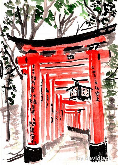 Tori Path, Fumishi Inari, Kyoto, Japan