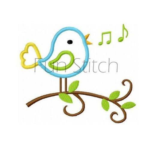 All you need Embroidery kit cute singing bird design kit with all need to start and complete