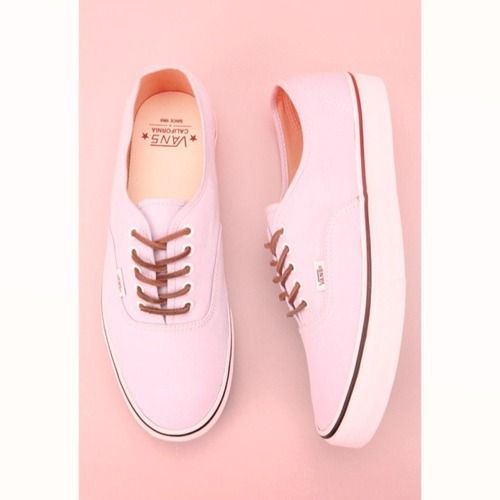 9f7a909f9f Light pink California Authentic VANS (would love them in Lo Pro) with leather  laces