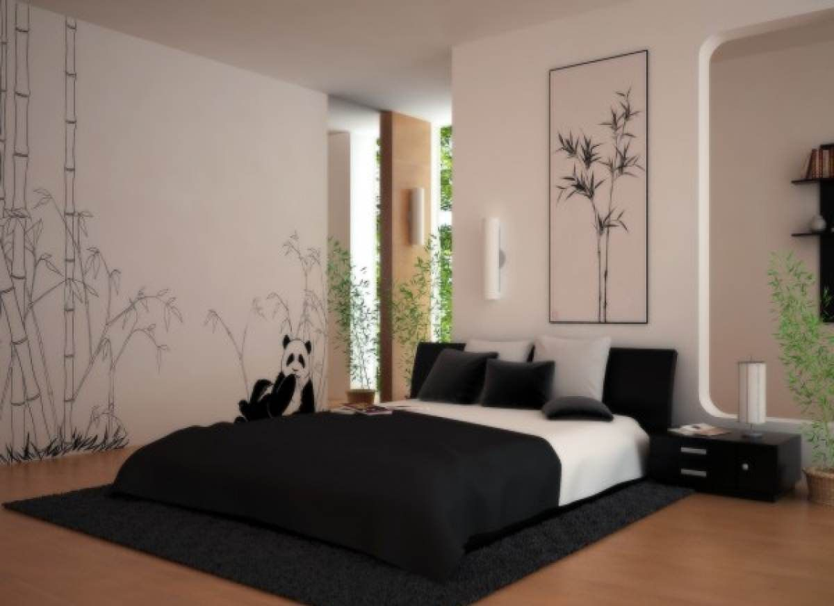 Superieur Comfortable Asian Bedroom Design Ideas With Panda Decoration