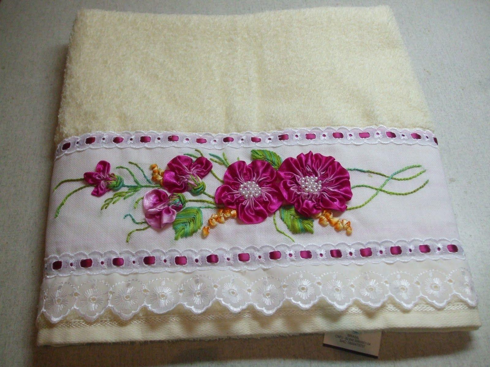 toalhas de banho bordadas 4