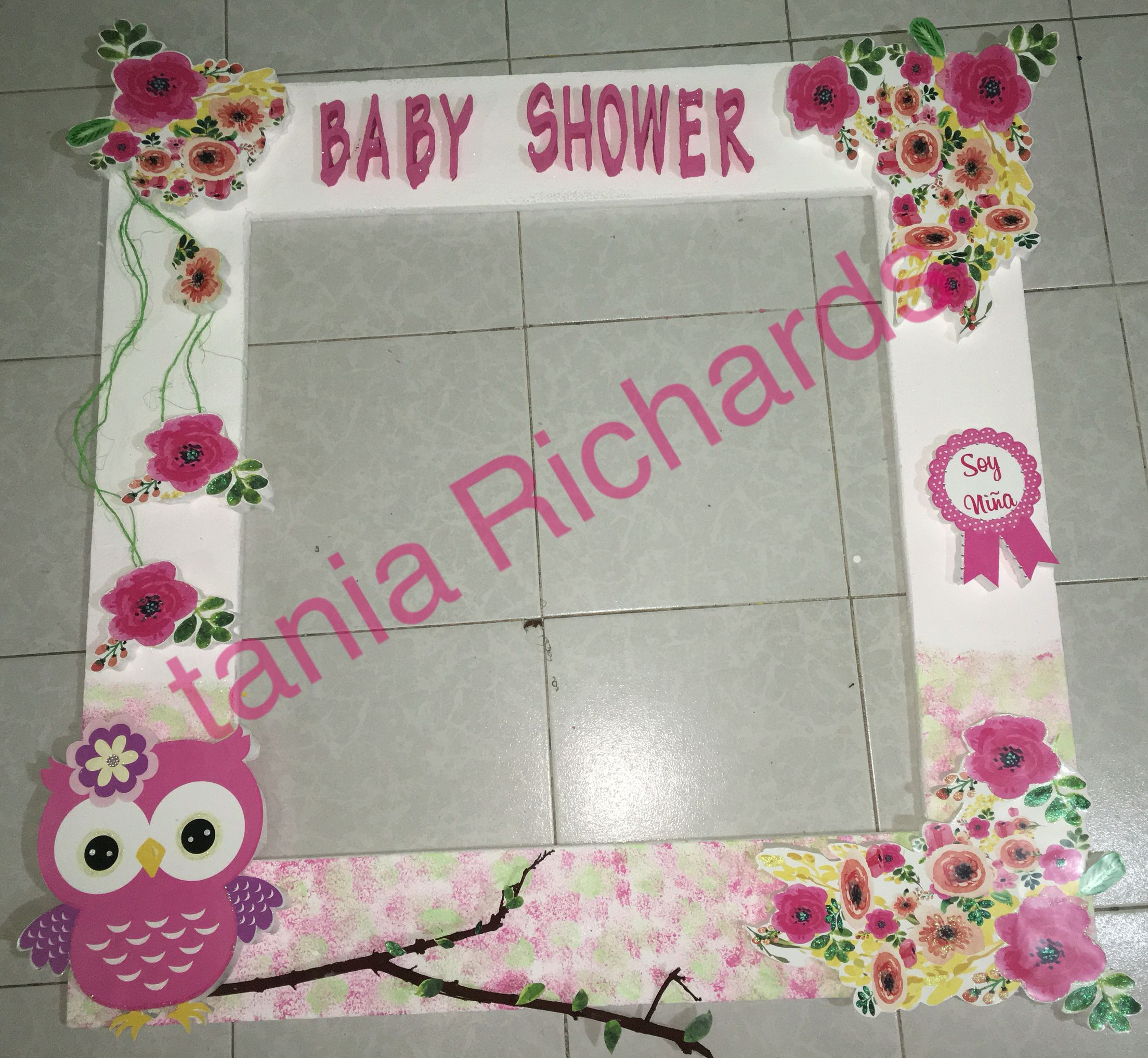 marco para fotos baby shower niña búho | Creations | Pinterest ...