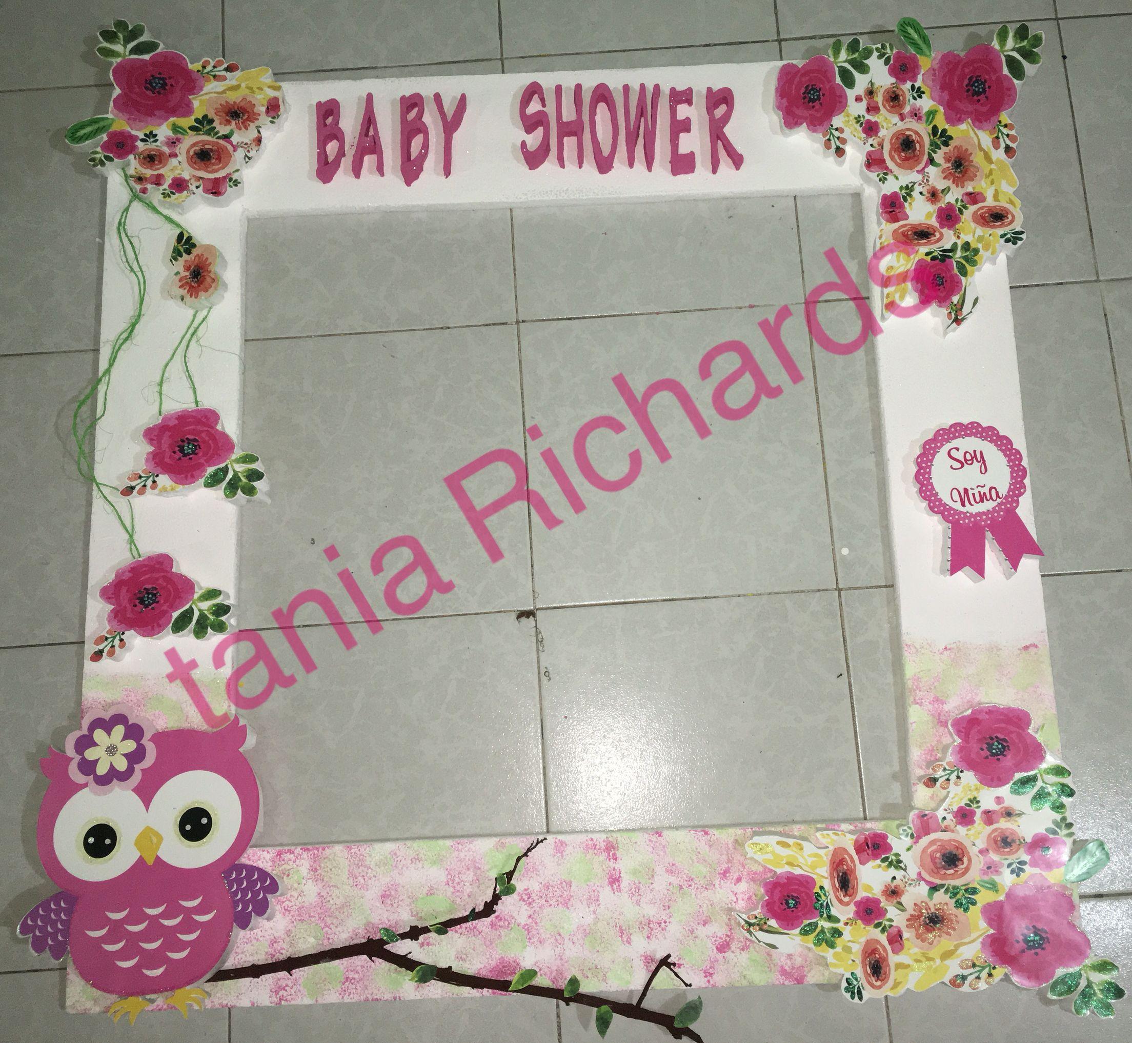 marco para fotos baby shower niña búho | marcos para fotos mis ...