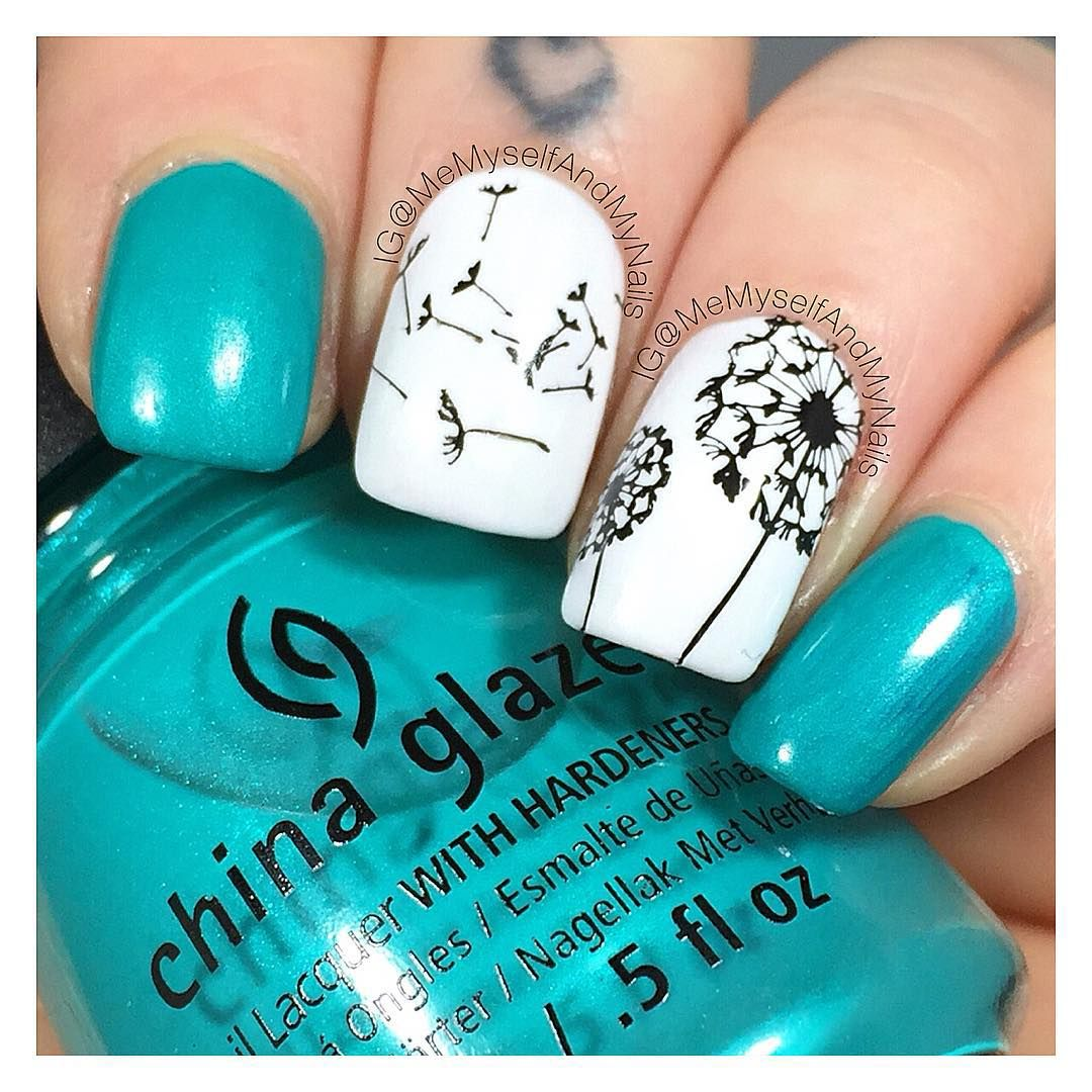 Dandelion nails! | Nails | Pinterest | Dandelions, Nail stamping and ...