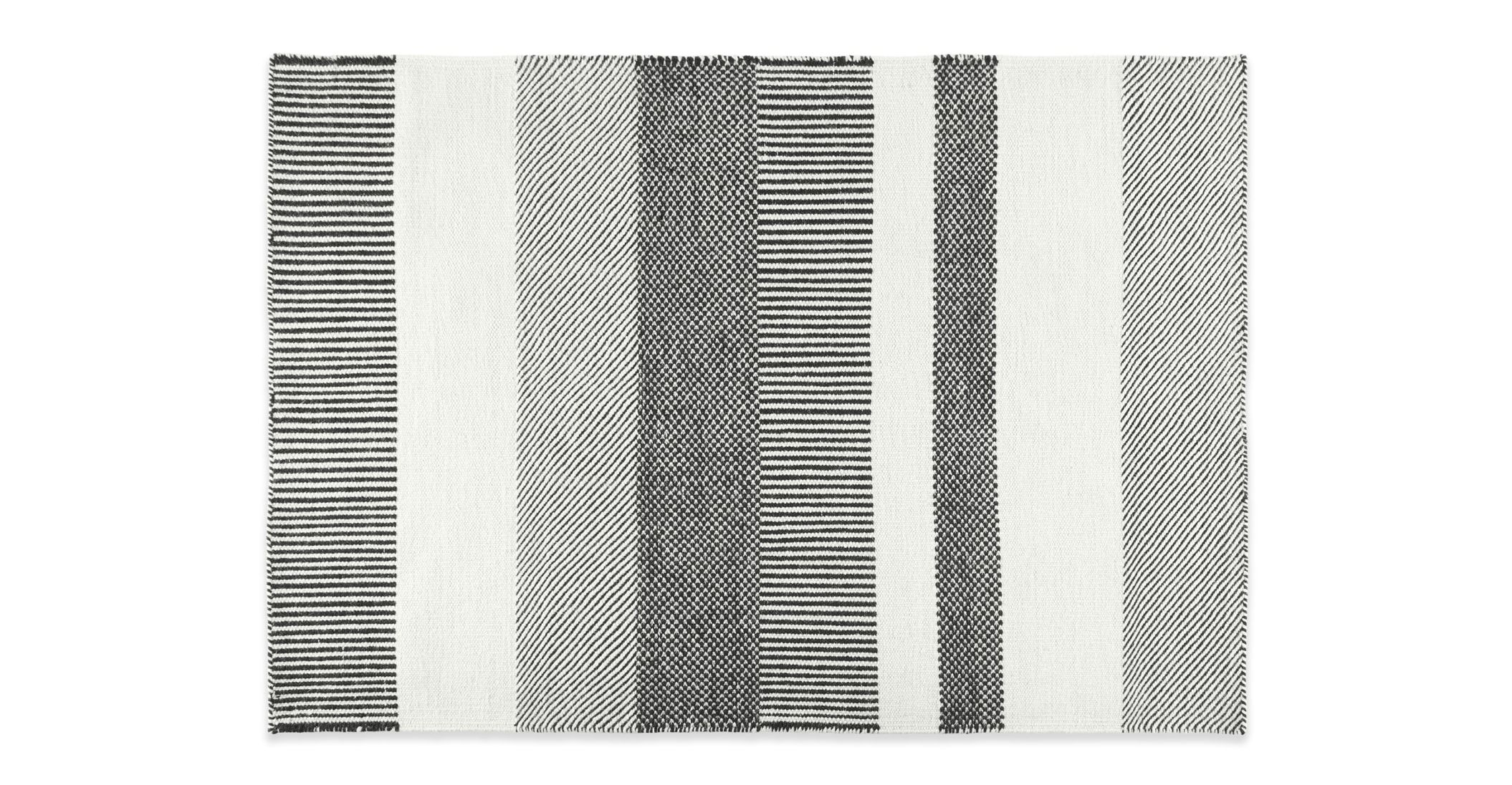 Malay Wool Stripe Rug Large 160 X 230cm Black White In 2020 Striped Rug Rugs Black And White