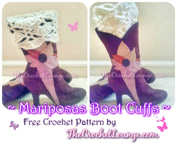 Mariposas Boot Cuffs - Free Crochet Pattern | The Crochet Lounge ...