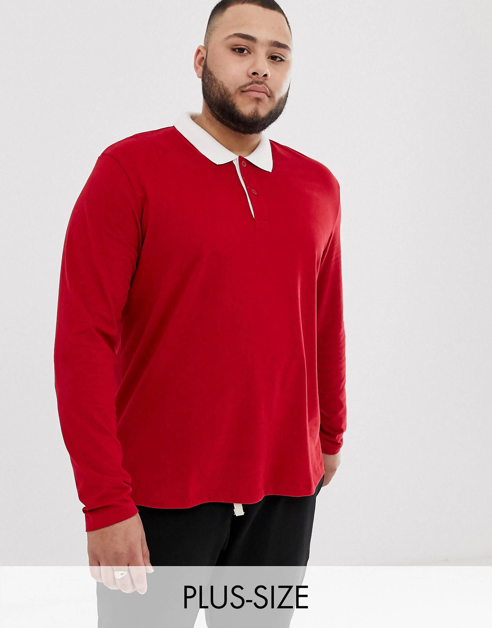 6689dfc9791 Jack   Jones plus size rugby polo in 2019