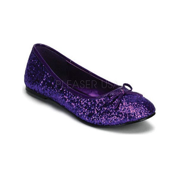 69061f94f6b9 Flat Shoes · Dancing Shoes · Women's Funtasma Star 16G - Purple Glitter  Casual ($32) ❤ liked on Polyvore featuring