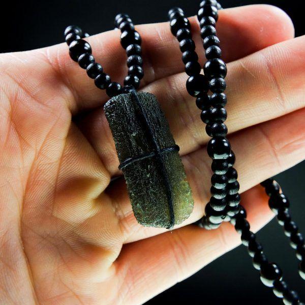 Men's Moldavite Necklace | crystal healing | Men necklace