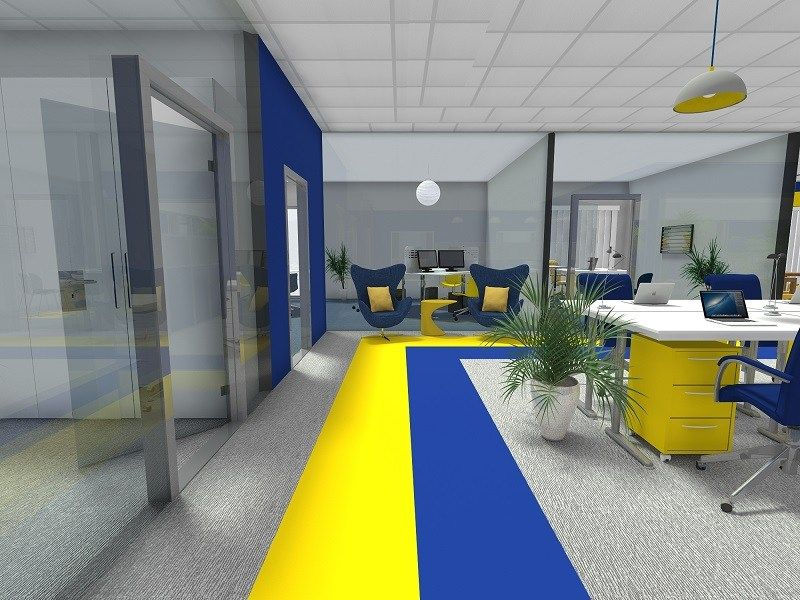 Office Flooring Grey Wood