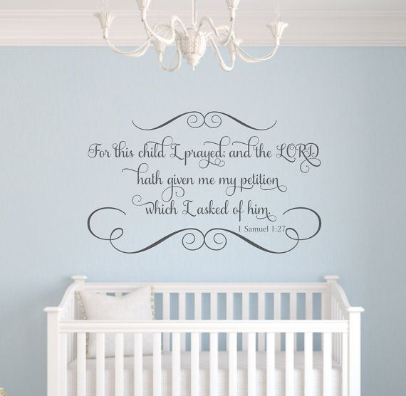 For this child i prayed scripture vinyl wall decal bible verse personalized name wall quote boy