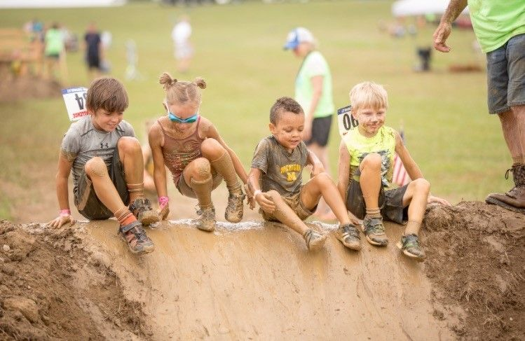 Childrenz Challenge kids mud and obstacle course run You have to