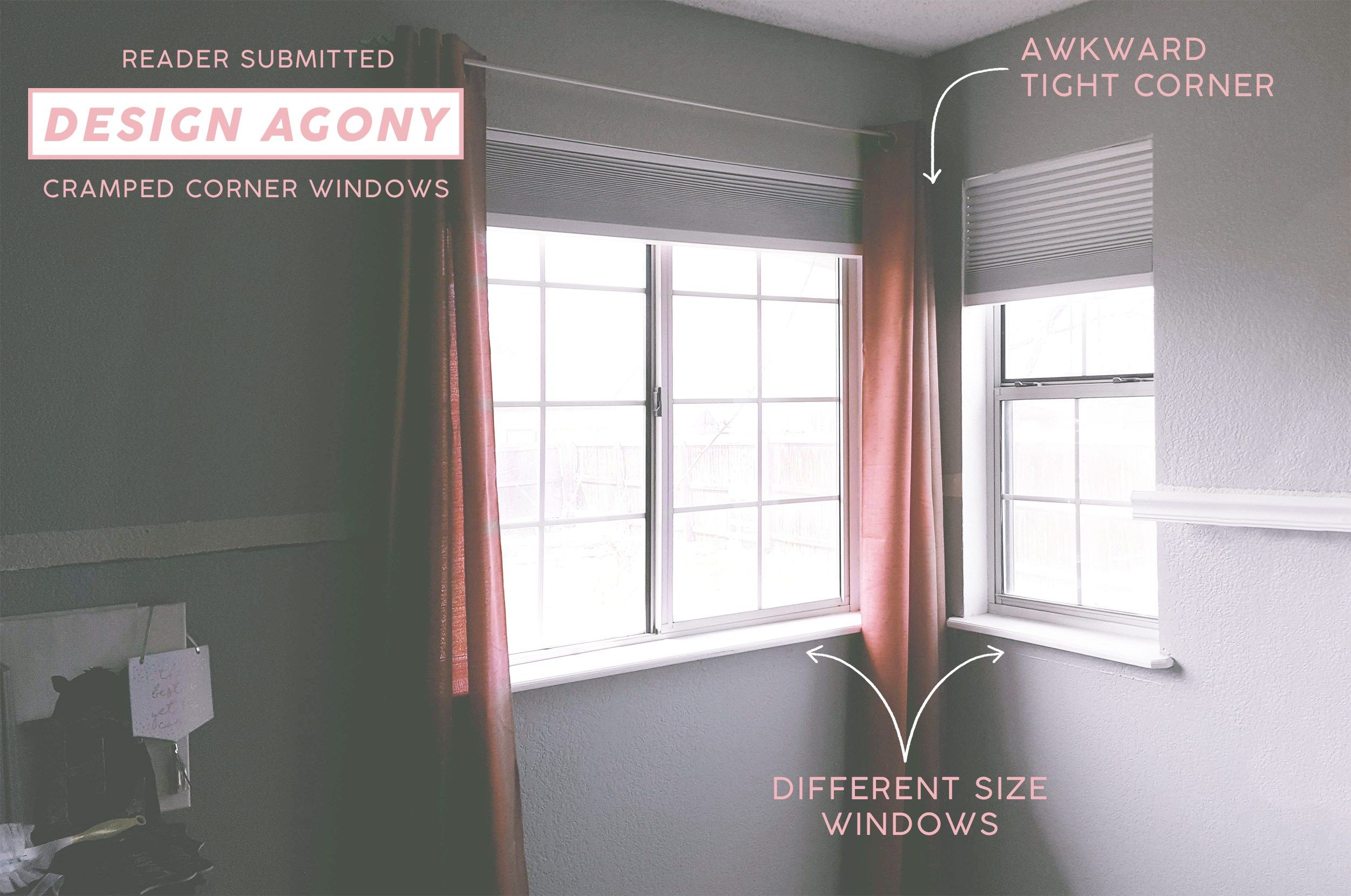 9 Solutions For How To Dress Awkward Windows Corner Window