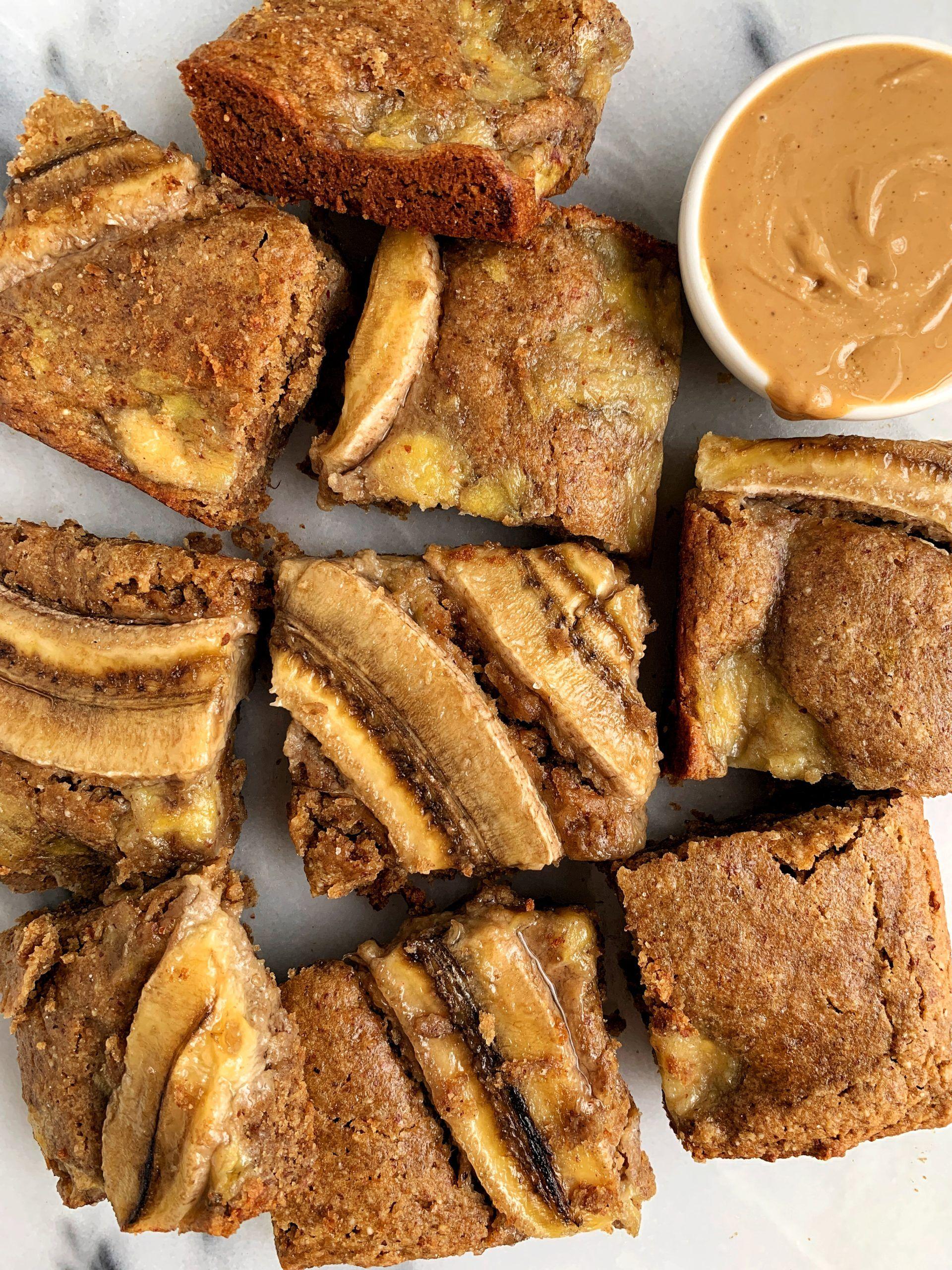 Healthy caramelized banana bread blondies vegan gluten
