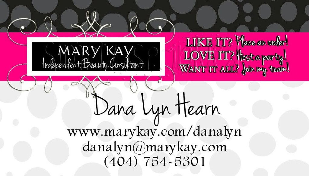 Mary Kay Business Cards Template Free Card