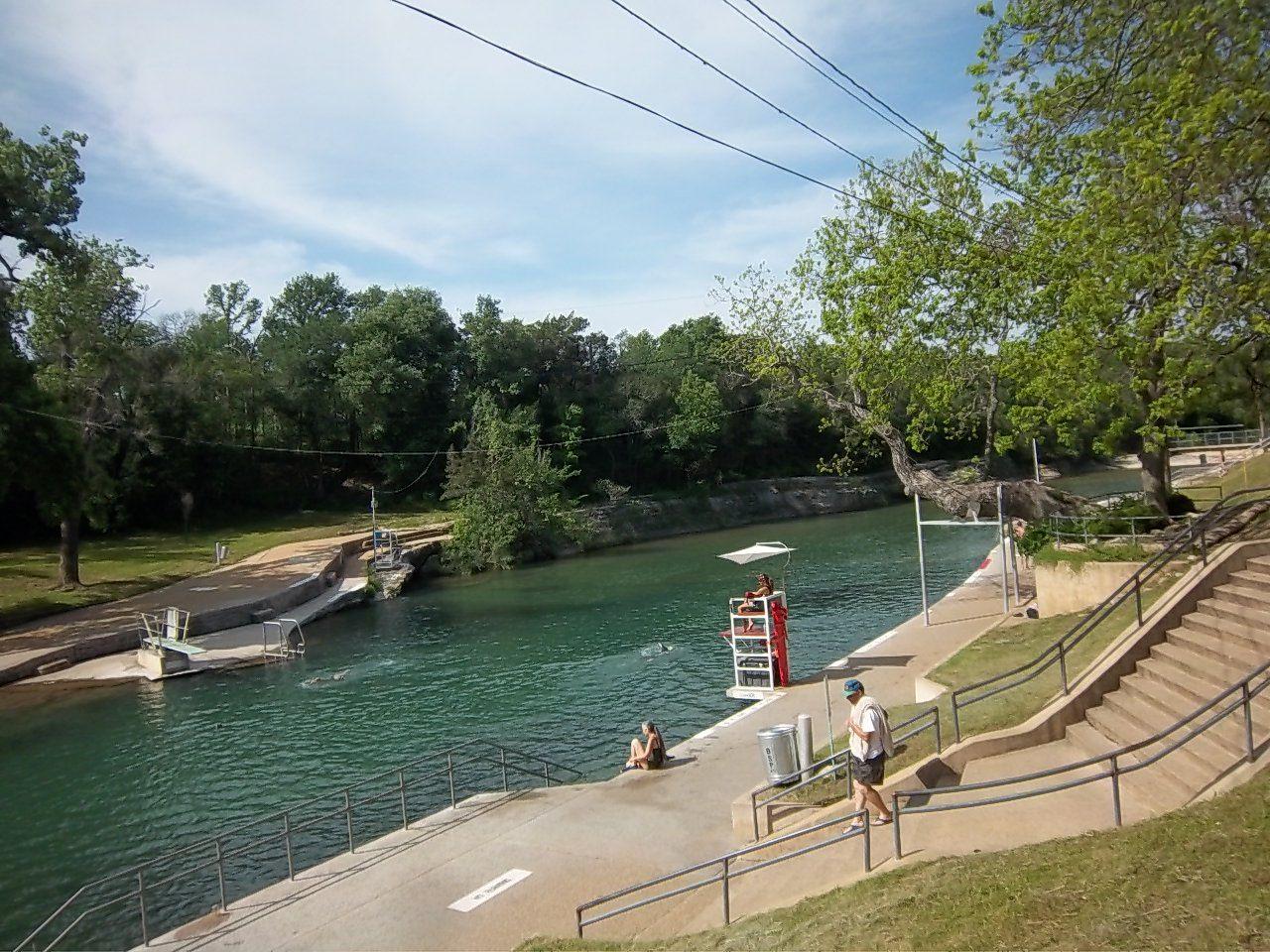 Barton Springs Pool #austin #hotspring #ZillerPark #travel
