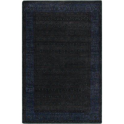 Surya Haven Charcoal Hand-Knotted Black/Ink Area Rug | Perigold