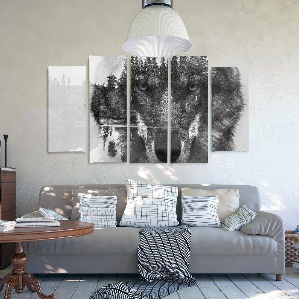 Feeby Frames, Leinwandbild Bilder Wand Bild - 5 Teile - Wandbilder ...