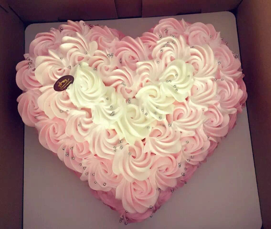 Heart Shaped Rosette Cake Diy Birthday Cake 28th Birthday Cake