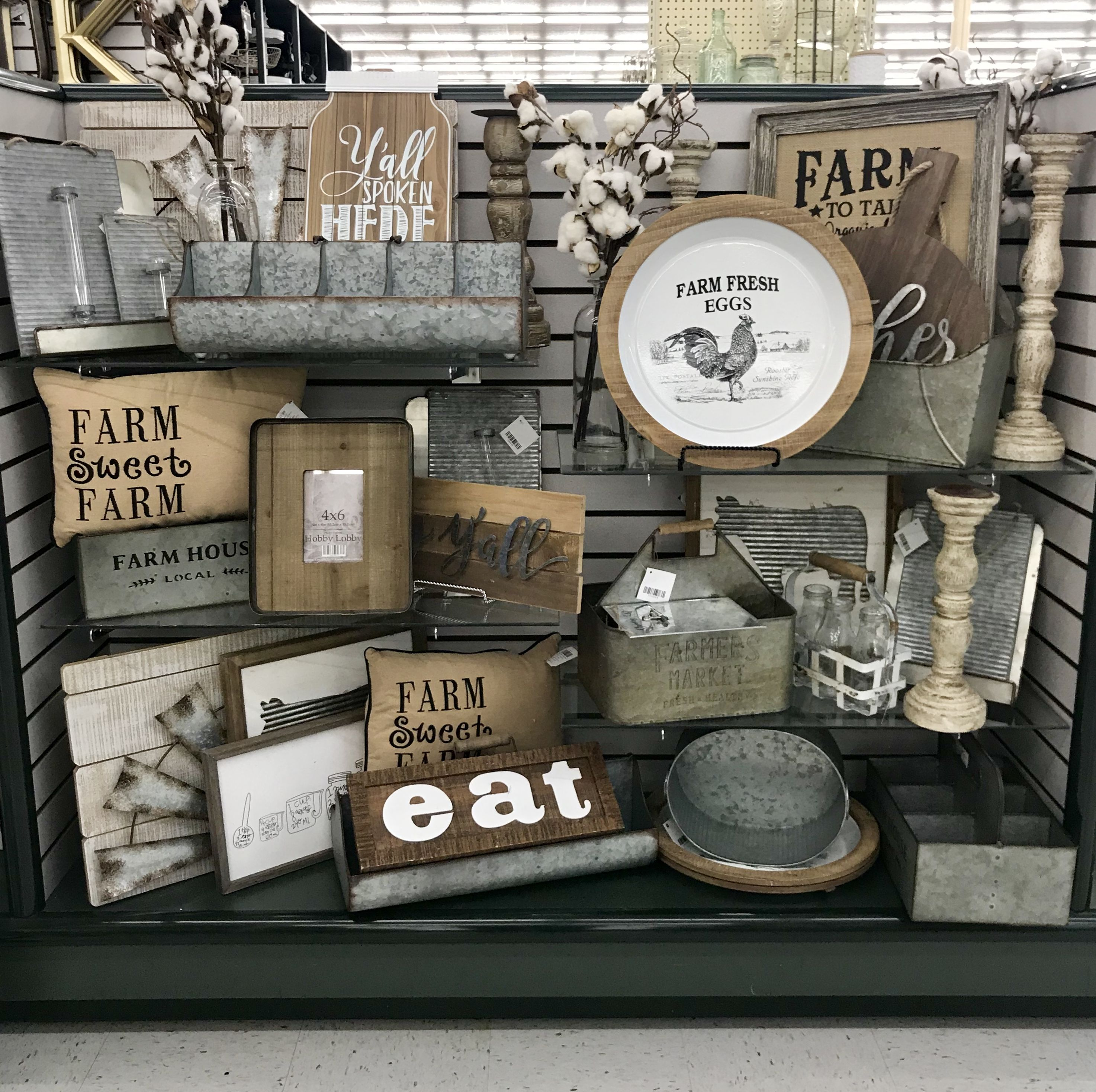 Hobby lobby merchandising table displays work Hobby