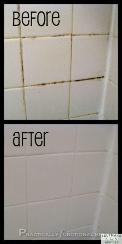 In je badkamer, en ook in je keuken, willen de voegen tussen de ...