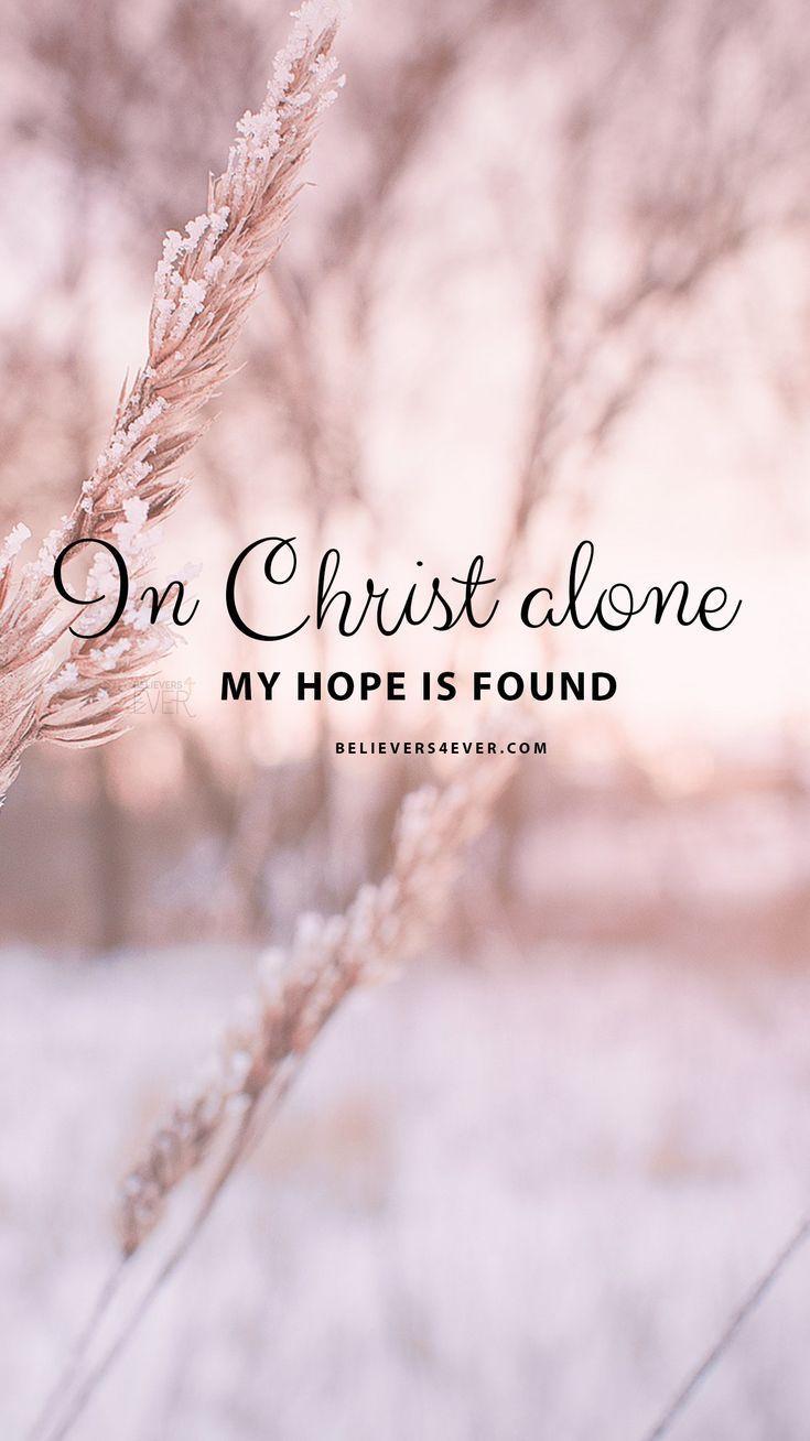 In Christ alone-