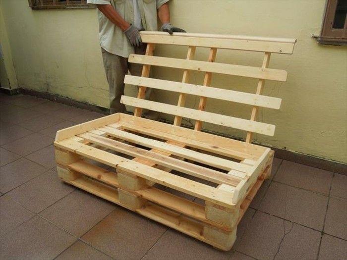 Mobili Con Pallet Tutorial : Idea divano bancali secondo passaggio del tutorial fissare lo