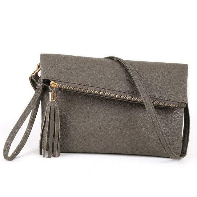 JIARUO 2017 New Tassel Design Women PU Leather Crossbody Messenger bag  Small Sling Shoulder Bags Fold 98a724639c17
