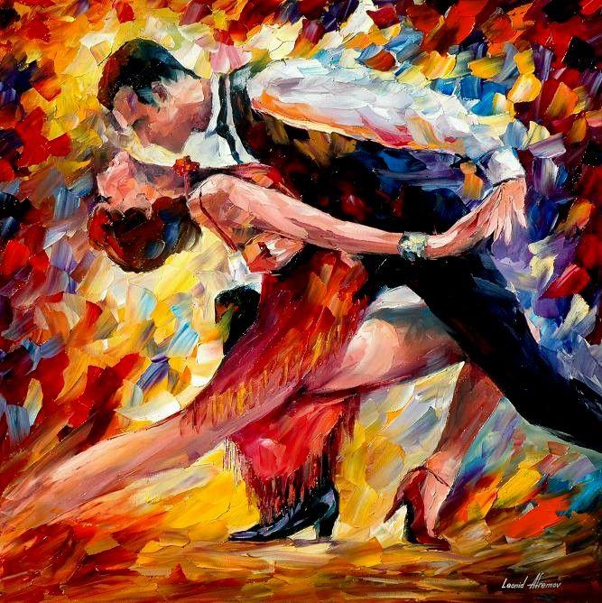 by Leonid Afremov #Tango #Leonidafremov #art #arte